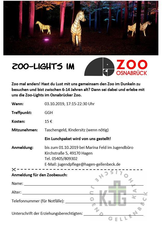 Zoo Lights Anmeldebogen